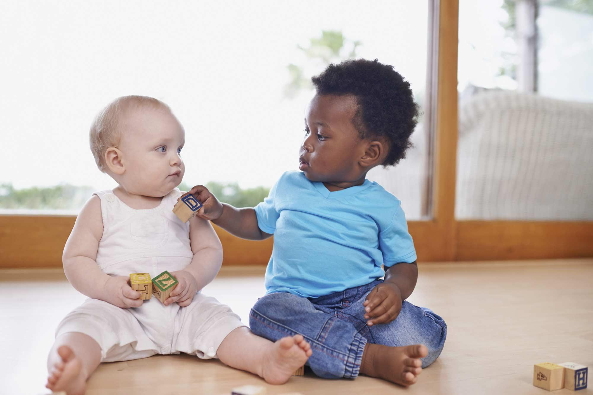 Babies sharing